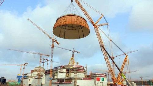 Монтаж купола, фото CNNC
